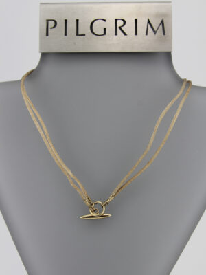560943 Pilgrim Kette Steckverschluss gold puder - 2in1 Kette