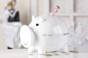 Sparschwein für Sie - für Ihn - Spardose für Eheleute und Ehepaare oder Hochzeitsgeschenk