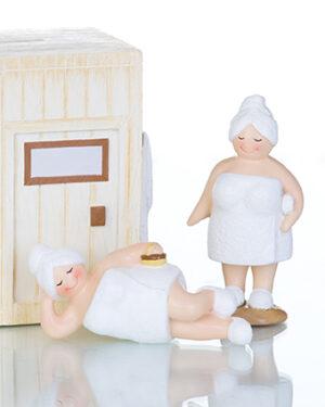 Sauna Betty - Saunafrau - Rubensmodell - mollige lustige Badedame 10cm