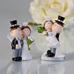 mini Brautpaar Hochzeitspaar - Dekofigur Hochzeit Tortenfigur