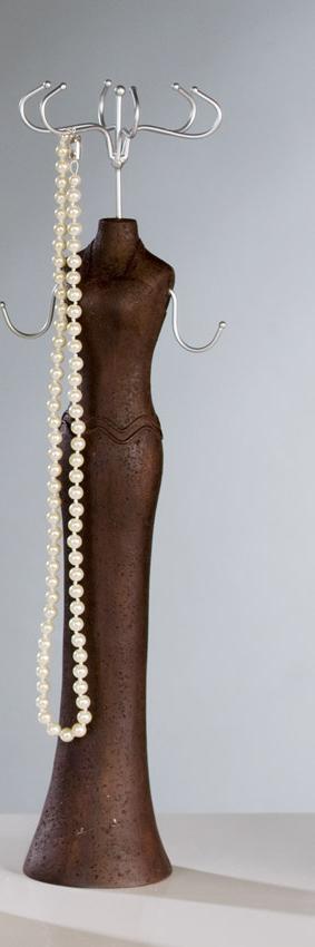 XL Schmuckpuppe Elegant – Schmuckständer – Kettenständer Frau in Abendkleid in Steinoptik