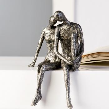 Skulptur Kantensitzer Couple - Pärchen Kantenhocker Dekofigur