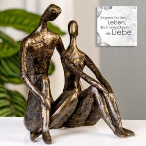 Skuptur Date Skulptur Liebespaar Kantenhocker 59773