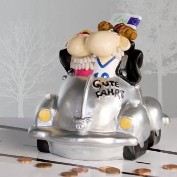 Casablanca Cabrio Spardose Auto - Gute Fahrt Sparschwein mit Schaf Paar