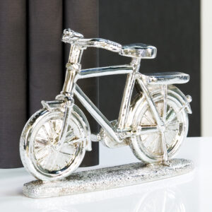 Originelles Bike Fahrrad Skulptur Deko antik-silber
