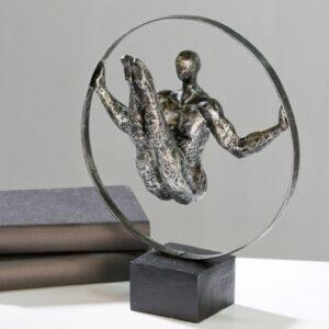Ringturner Skulptur Athlet - Dekofigur Turner und Akrobaten