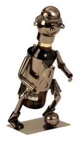 Bier-Flaschenhalter Fußballspieler Metall Skulptur Fußballer
