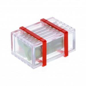 Magische Geschenkbox Trickkiste Plexi für Geldgeschenke - Knobelspiel - Verpackung