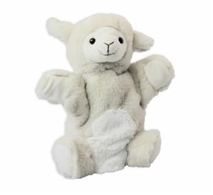 Handpuppe Schaf mit Füße - Kuscheltier Lamm - Plüschtier - Schmusetier - Super Soft Plüsch