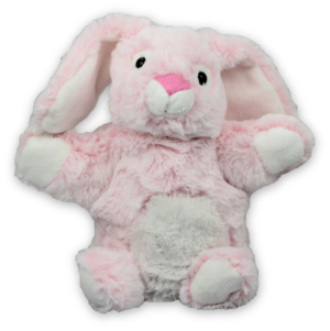 Stofftier Handpuppe Hase pink 23cm - Kuscheltier - Plüschtier - Schmusetier - Super Soft Plüsch