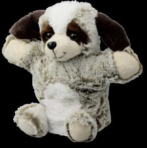 Stofftier Handpuppe Hund 22cm - Kuscheltier Welpe - Plüschtier - Schmusetier - Super Soft Plüsch