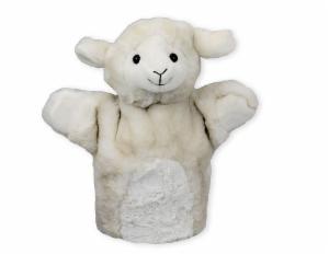 Handpuppe Schaf Beo 25cm - Kuscheltier Lamm - Plüschtier - Schmusetier