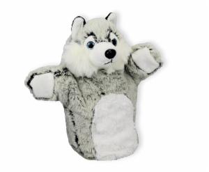 Plüsch Hund Handpuppe Husky Tobi - Kuscheltier Welpe - Plüschtier - Schmusetier - Super Soft Plüsch