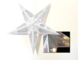 LED Weihnachtsstern Papierleuchtstern Hologramm Lichterstern Fensterstern