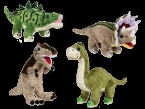 Plüsch Dinosaurier Stofftier Dino Saurier Kuscheltierserie 31cm Brachiosaurus, Stegosaurus, Triceratops, T-Rex