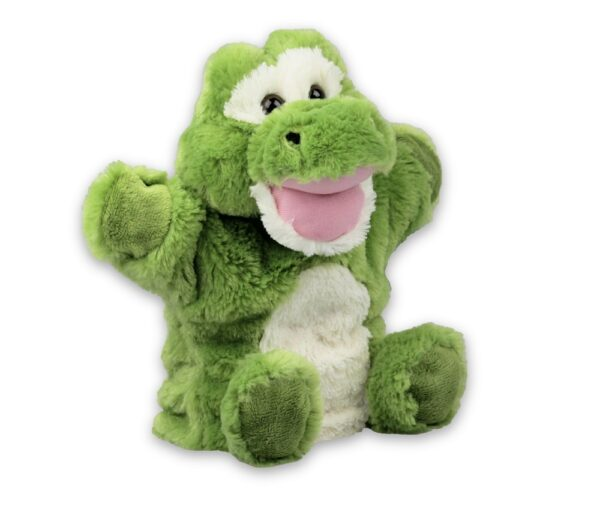 Handpuppe Krokodil Kuscheltier Plüschtier - Schmusetier - Super Soft Plüsch Kroko