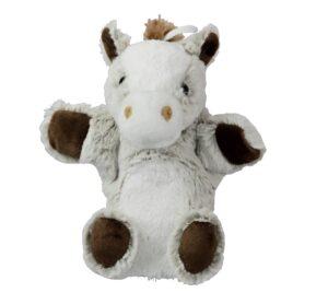 Handpuppe Pferd Kuscheltier Pony Plüschtier hell - Schmusetier