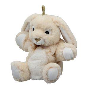 Stofftier Handpuppe Hase grau Kuscheltier - Kaninchen Plüschtier Häschen - Plüschtier - Schmusetier - Super Soft Plüsch