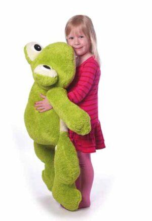 Freaky Frosch XXl Kuscheltier grün, ca. 100 cm- Riesen Plüschtier Kuschelfrosch - Super Soft Plüsch