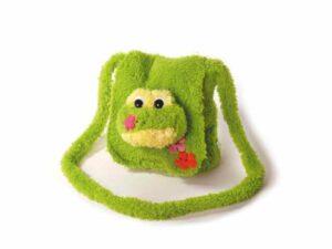 Kindergartentasche Freaky Frosch 23 x 20 cm - Kuscheltasche aus schadstofffreiem Material