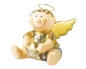 Pappmaché Engelchen & Bengelchen sitzend mit einem Stern in der Hand - Junge