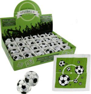 Magisches Handtuch Fußball - Zauberhandtuch Baumwolle 30 x 30 cm