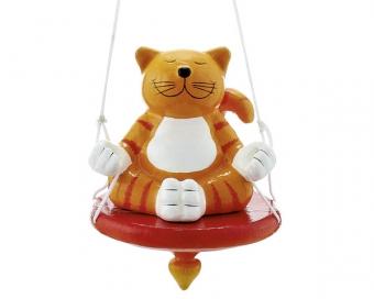 Mila Oommh Pappmache Katze Dekofigur zum hängen