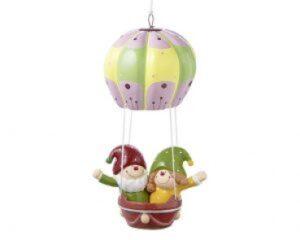 Mila Pappmache Figur - Herr Fröhlich & Frl. Lustig im Ballon