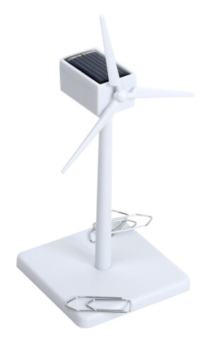 Solar Mühle Windgenerator ABS weiß 16 cm - Bausatz - Windmühle - Windturbine - Windkraftanlage - Enercon Windenergie - magnetisch