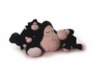 Kuscheltier Schaf Sleepy, schwarz - Plüschtier Schmusetier aus Super Soft Plüsch