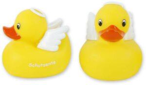 Badequietscheentchen Engel - Schutzente Quitschente - Badeente mit Flügeln