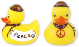 Badequietscheentchen Peace - Friedensente Quitschente - Badeente