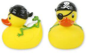 Badequietscheentchen Pirat mit Frosch - Badeente - Quitsche-Ente