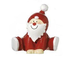 Pappmaché Santa Claus sitzend - Mila Weihnachtsmann Dekofigur
