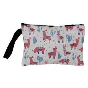 Tasche Lama mit Reißverschluss und Schlaufe - Alpaka Kamel Kulturtasche