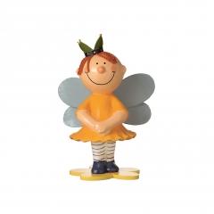 Pappmaché Prinzessin stehend - gelb