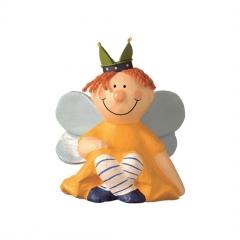 Mila Pappmaché Prinzessin sitzend - gelb