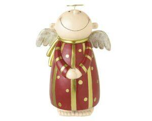 Mila Deko Figur XXL Engel Himmelsbote, weiß oder rot - stehend 37 cm