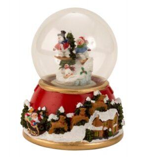 Weihnachts-Schneekugel Schneemann mit Melodie - Traumkugel X-mas mit Musik & Licht
