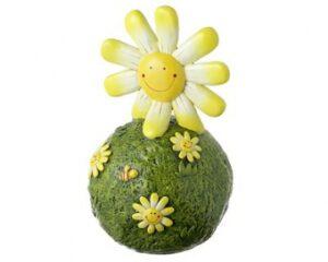 Let´s Smile - Mila Sonne Gartenkugel - Dekofigur - Gartenfigur aus Resin