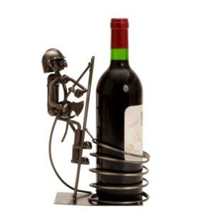 Flaschenhalter Feuerwehr Skulptur Feuerwehrmann im Einsatz - Weinflaschenhalter