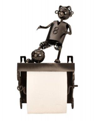 moderner Toilettenpapierhalter Fußballspieler Skulptur Fußballer