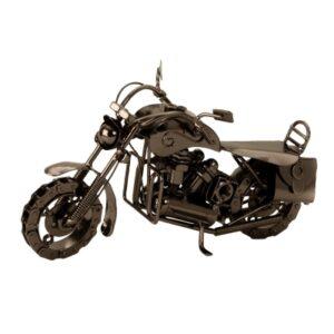 Metall Motorrad Skulptur Chopper