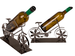 Fahrrad Skulptur Flaschenständer Damenrad Weinflaschenhalter