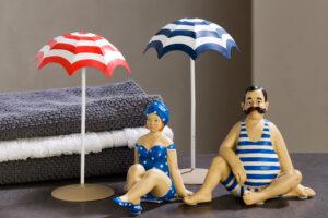Deko Sonnenschirm, Metall Strandschirm Dekoration für Strand- u. Badefiguren