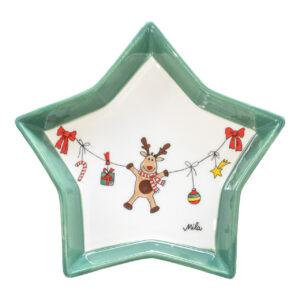 Mila Plätzchenteller Holly Jolly - Elchteller Keramik Geschirr Mila 74241