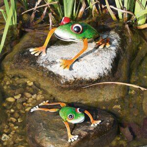Metall Frosch Colorado Frog - Frösche Dekoration für den Außenbereich