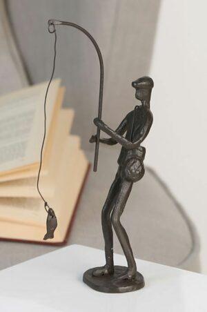 Angler Skulptur