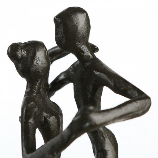 Dancing - Tanz Skulptur - Tanzpaar Dekoobjekt aus Eisen - Tango Liebespaar Tänzer