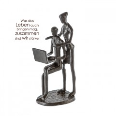 Business Liebespaar - Design Skulptur aus Eisen, brüniert